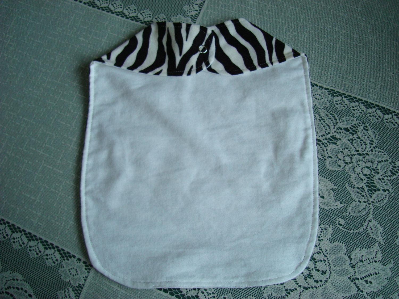 Handmade Cotton Baby Bib Fits Newborn to 3 Mo