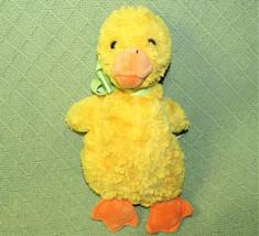 "10"" Hallmark YELLOW DUCK Plush Swirl Stuffed Animal Bird Green Ribbon Or... - $18.70"