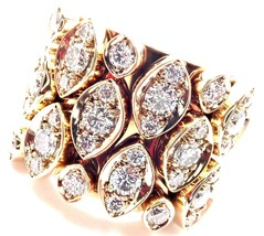 Authentic! Cartier Diadea 18k Yellow Gold Mobile Diamond Ring Size 52 Cert. - $8,500.00