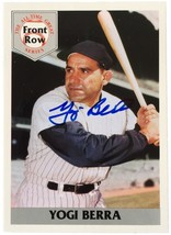 Yogi Berra Signed New York Yankees Card Front Row 92 SI #3 - $126.42
