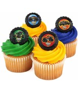 MONSTER JAM TRUCKS Cupcake Cake 12 PCS Decoration Party Supplies TOPPERS... - $7.87