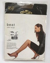 OMSA Beat Rate Larga Tights Pantyhose wide Fishnet Natural M 1 - 2 beige... - $23.76