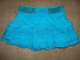 JUSTICE BLUE RUFFLED Skort Size 6 Girl's EUC - $16.60
