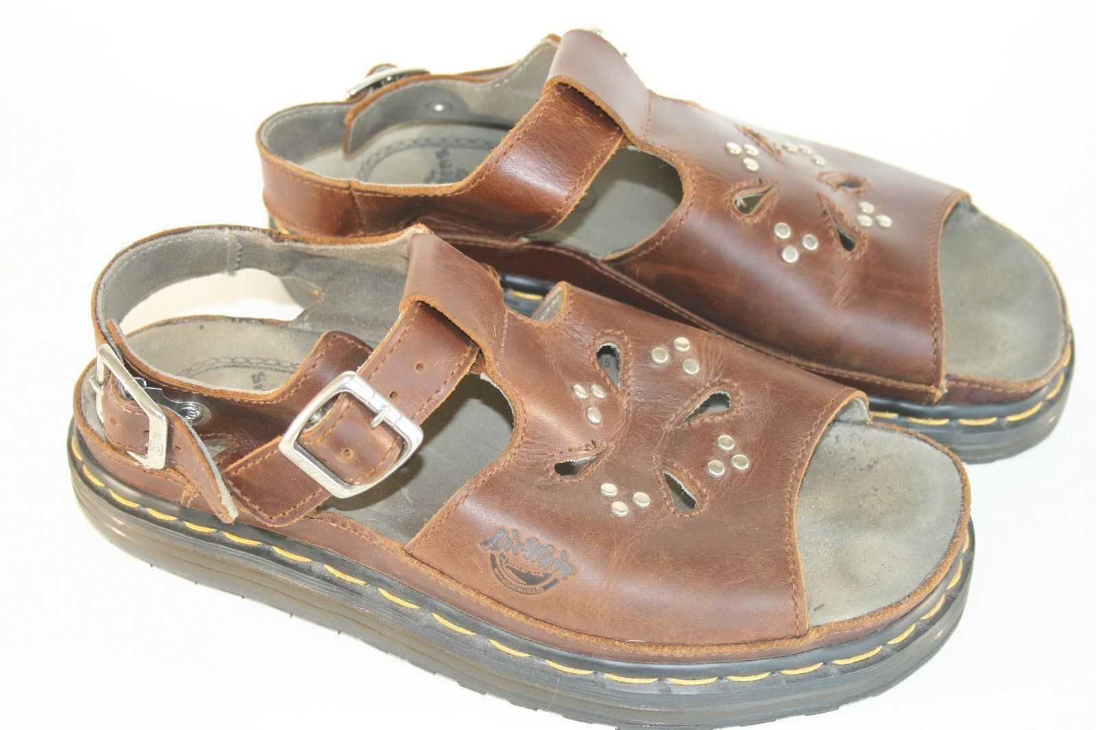 Dr Doc Martens Air Wair Brown Leather Sandals US 9  UK 8  Women's Clean! England - $51.49