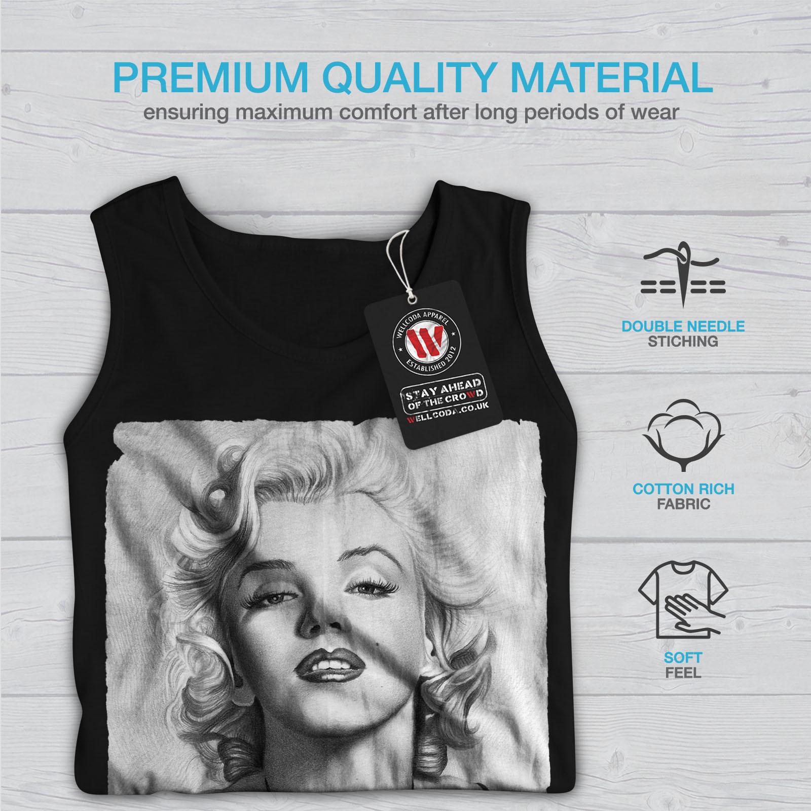 Marilyn Monroe Chick Tee Lady Idol Women Tank Top image 7