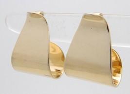 Vtg Avon Gold Tone Wave Clip Earrings - $14.85