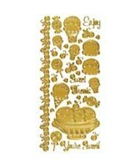 Hot Off The Press Dazzles Stickers: Sweet Treats Gold - $6.21
