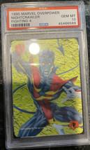 1995 Marvel Overpower Fighting 4 Nightcrawler PSA 10 GEM MINT Low Pop - $346.49