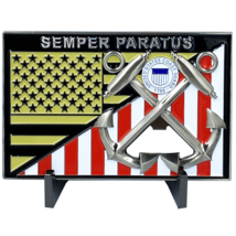 "COAST GUARD SEMPER PARATUS 4"" BOTTLE OPENER CHALLENGE COIN - $37.99"