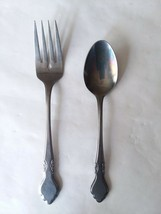 2pc Oneida Musette Northland Stainless Korea Flatware Salad Fork and Teaspoo - $7.91