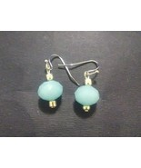 Light Blue Beaded Earrings - $5.00