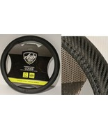 """New Back Carbon Fiber Steering Wheel Cover Size M 14.5"""" - 15.5"""" Auto Drive  - $14.65"""