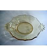 Fostoria Baroque Yellow Topaz Depression Glass Small Serving Bowl Relish... - $12.82