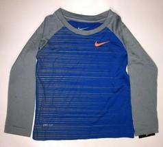 Nike Piccolo Ragazzi Scanalatura Righe L/S Tee 2T, Gioco Reale - $19.79