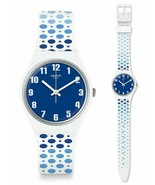 Swatch Paveblue Watch GW201 Analogue Silicone Blue, White - $47.47