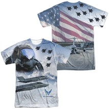 Authentic Air Force USAF Pilot Flying American Flag Front Back allover T... - $30.99+