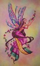 """Fairy Iridescence"" Cross Stitch Kit w/ 16 Count Hand Dyed Aida - $94.04"