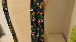 LOONEY TUNES STAMP COLLECTION NOVELTY TIE MENS SUIT 100%POLYESTER MARVIN... - $4.94