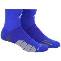 ADIDAS Menace Climalite Traxion High Quarter Socks Men's sz M Medium (6.... - $19.49