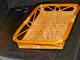 Serving Tray Wicker Basket AA-191707 Vintage Collectible image 3