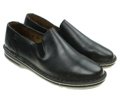 Born Womens Black Leather Slip-on Loafers Flats Size 8C Wide - $24.74