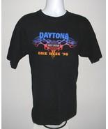 Mens Harley Davidson Daytona Bike Week 1998 t shirt XL flaming logo Florida - $24.70