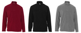 NEW MENS CLUB ROOM MOCK NECK HALF ZIP FLEECE SWEATER SWEATSHIRT - £15.34 GBP