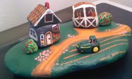 Farm Scene (Painted Rocks)