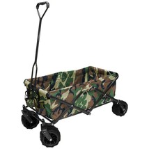 Outdoor Folding Wagon Camouflage with Adjustable Wide 7 cu ft 150 Lbs Ca... - $146.04