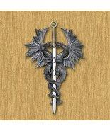 Dragons New Medieval Dragon Dagger Sword Wall Plaque Sculpture Fantasy A... - $24.23