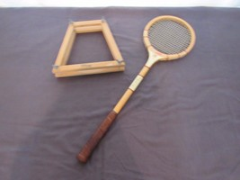 """Vintage Bancroft """"The Racquet Club"""" Squash Racquet Display Prop Staging  - $48.61"""