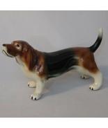"Basset Hound Dog Figurine Porcelain Hound Dog 9 1/2"" - $17.99"