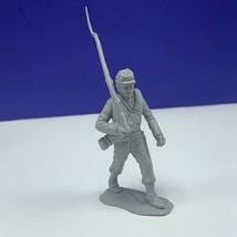 Louis Marx civil war toy soldier gray south confederate vtg figure infan... - $16.78