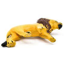 Hand Carved & Painted Jacaranda Wood Santa Hat Lion Safari Christmas Figurine image 5