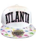 City Hunter Atlanta Men's Snapback Baseball Caps (White Paint) - $12.95