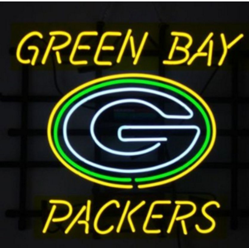 """Green Bay Packers Football NFL Neon Sign 24""""x20"""""""