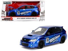 """2012 Subaru Impreza WRX STI Blue \""""JDM Tuners\"""" 1/24 Diecast Model Car by Jada - $34.30"""