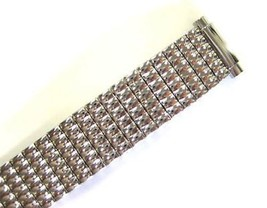 Speidel 10-14MM Short Silver Stainless Steel Expansion Watch Band Strap - $19.79
