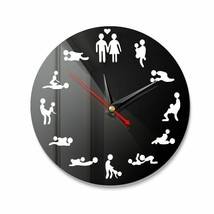 DIY Bachelorette Adult Room Decorative Wall Clock Love Position Mirror S... - $23.93+