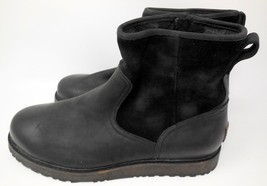 New UGG Australia Witmore Black Leather Waterproof Boot Size 9 SHIPS TODAY! - $177.65