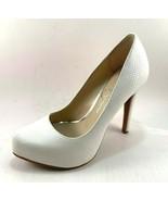 Jessica Simpson Parisah White Snake Print High Heel Platform Pumps - $85.00