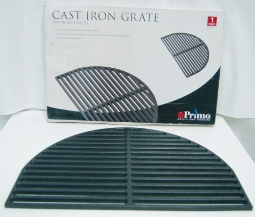 Primo 00361 Half Oval Cast Iron Cooking Grate Color Black Size XL