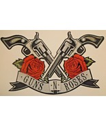 """Guns N' Roses~Cross Pistols Revolvers Patch (14"""" x 8 1/2"""") Embroidered~I... - $16.79"""