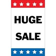 HALF PRICE BANNERS | Huge Sale Vinyl Banner -Indoor/Outdoor 5X3 Foot -Stars | In
