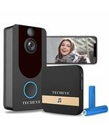 WiFi Video Doorbell, TECH EYE Wireless Security Doorbell Camera, 1080P W... - $162.24