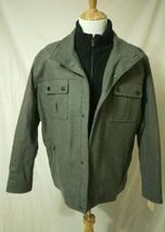 Michael Kors Men's XXL Coat Wool Blend Bibbed Jacket Heather Gray - $133.65