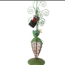 Easter Tabletop Decor Carrot Egg Ornament Tree Wire Orange Green 20 Inch - $13.64