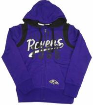 Women's Baltimore Ravens Hoodie NFL Elite Full Zip Sweatshirt Football