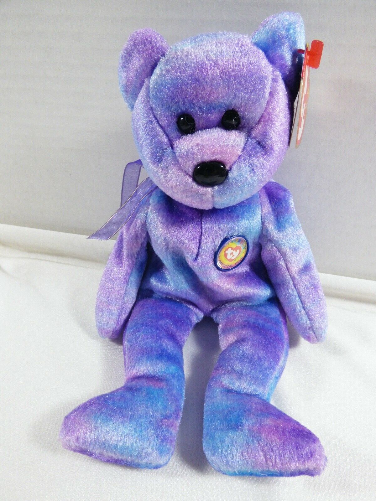 Primary image for 2001 TY Beanie Baby original collection Clubby IV Bear P.E. Pellets Beanie