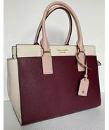 New Kate Spade New York Cameron Medium Satchel Leather Cherry Wood / War... - $129.00